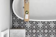 Фото 5 Кафель для ванной комнаты: мозаика, пэчворк и 50+ самых свежих дизайнерских трендов
