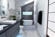 Фото 16 Кафель для ванной комнаты: мозаика, пэчворк и 50+ самых свежих дизайнерских трендов