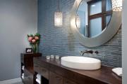 Фото 11 Кафель для ванной комнаты: мозаика, пэчворк и 50+ самых свежих дизайнерских трендов