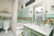 Фото 24 Кафель для ванной комнаты: мозаика, пэчворк и 50+ самых свежих дизайнерских трендов