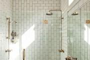 Фото 27 Кафель для ванной комнаты: мозаика, пэчворк и 50+ самых свежих дизайнерских трендов