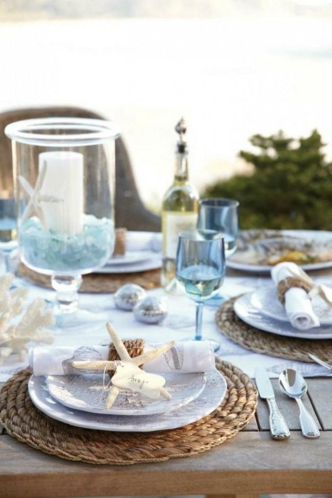 Сервировка стола в морской тематике