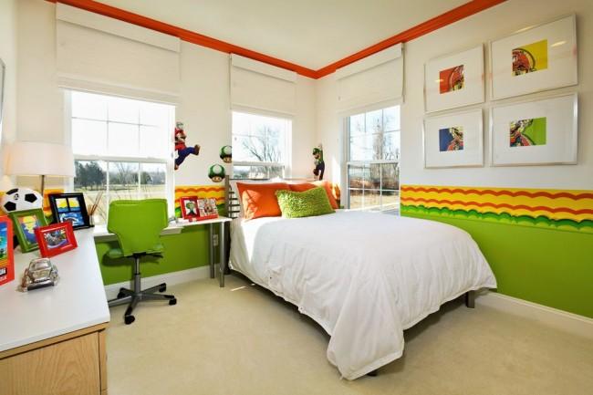 Светлая и яркая спальня для мальчика