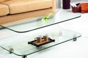 Фото 35 Стеклянный журнальный столик: 85 универсальных дизайнерских вариантов для любого интерьера