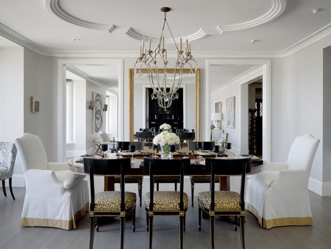 Одна из разновидностей декорирования потолка - это лепнина