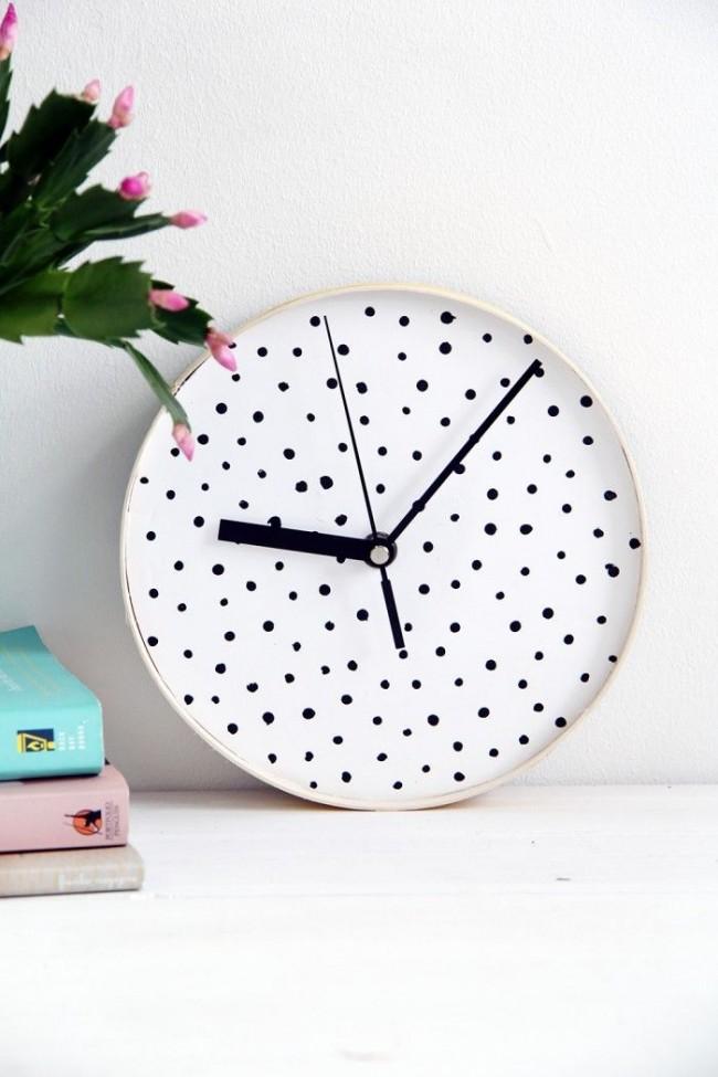 Декоративные часы из тарелки