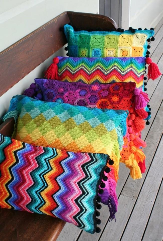 Наволочки на маленькие подушечки, сделанные своими руками