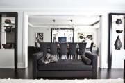 Фото 20 Дизайн черно-белой гостиной: 40 вдохновляющих идей элегантного монохрома