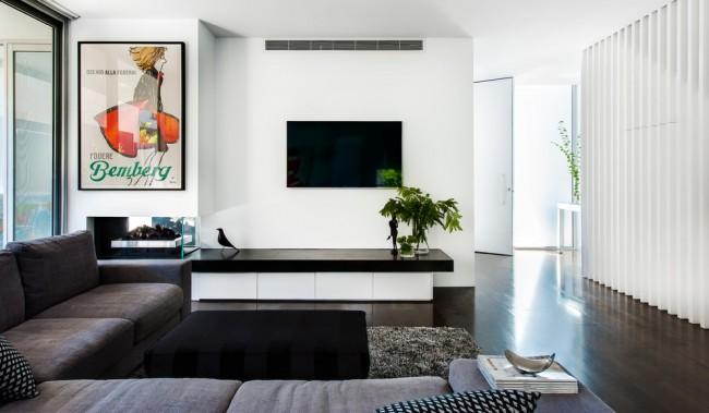 Чистота и простота стиля модерн в черно-белом исполнении