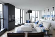 Фото 5 Дизайн черно-белой гостиной: 40 вдохновляющих идей элегантного монохрома