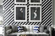Фото 1 Дизайн черно-белой гостиной: 40 вдохновляющих идей элегантного монохрома