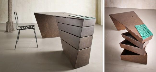 Стол домашнего офиса можно сделать настоящим бриллиантом оформления