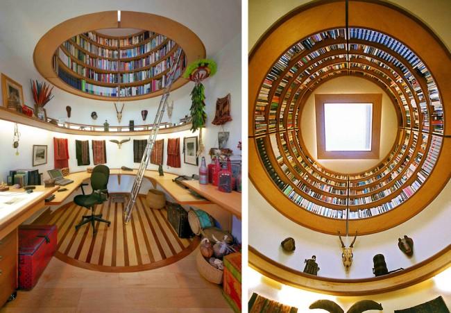 Необычная библиотека над головой, которая завораживает и с первого, и с тысячного взгляда