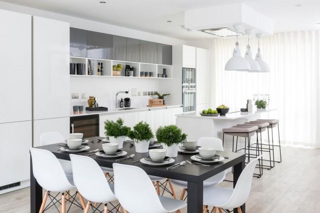 Барная стойка или полноценное обеденное место? Примите решение вместе с дизайнером или самостоятельно, учитывая габариты, планировку и освещенность помещения