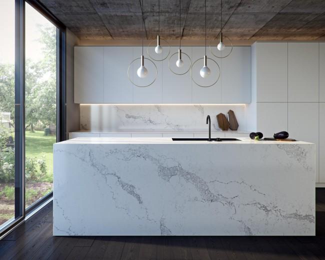 Дизайн кухни белого цвета. Лаконичность и изысканность кухонного гарнитура для контемпорари-кухни