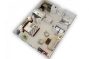 Фото 40 Дизайн-проекты квартир: готовые решения для идеального интерьера