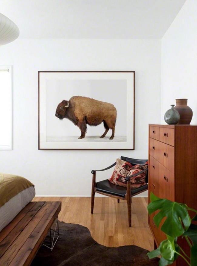 В современном интерьере приветствуются анималистические картины. Они уместно смотрятся в гостиной