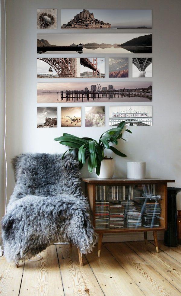 Зону отдыха с мягким креслом и настенным фотоотчетом о минувшем путешествии можно создать где угодно, даже в рабочем кабинете