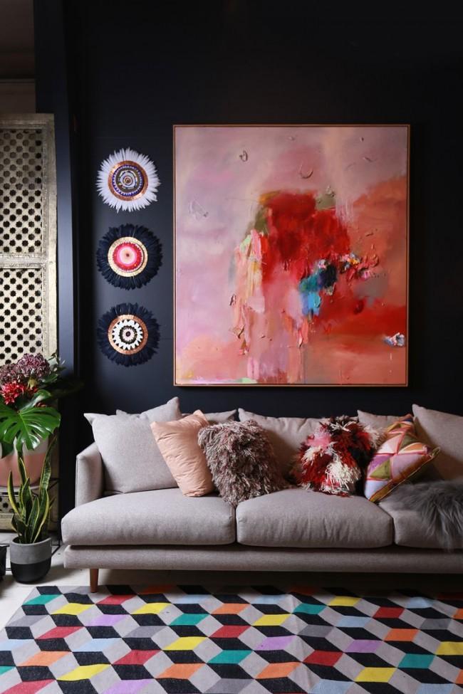 Картины для интерьера. С помощью абстрактной картины можно создать особую атмосферу в гостиной