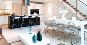 Дизайн кухни-столовой-гостиной: как грамотно объединить функциональные зоны фото