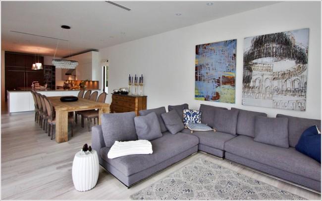 Использование ковровых покрытий как разделение зон в помещении