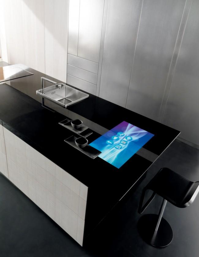 Сенсорная столешница - одна из новинок в современном дизайне