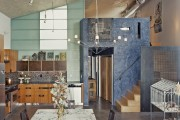 Фото 11 Кухня в стиле лофт: индустриальная романтика в домашнем интерьере, 75 фото