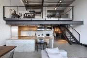 Фото 27 Кухня в стиле лофт: индустриальная романтика в домашнем интерьере, 75 фото