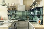 Фото 22 Кухонный гарнитур для маленькой кухни: 40+ фото эффективной организации пространства и секреты удачного выбора