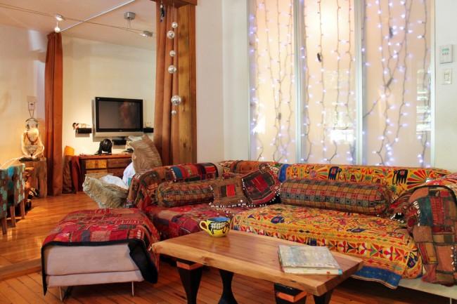 Веселые африканские мотивы сделают гостиную более уютной и теплой