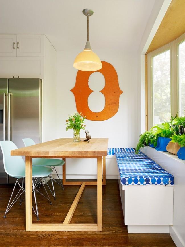 Эргономичное расположение мебели в небольшой кухне