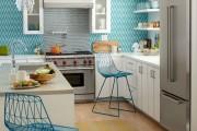 Фото 15 Обои для кухни: обзор самых вкусных и свежих тенденций года в кухонном интерьере