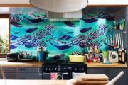 Фото 16 Обои для кухни: обзор самых вкусных и свежих тенденций года в кухонном интерьере