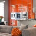 Оранжевые кухни: особенности цветовых комбинаций для энергичных интерьеров фото