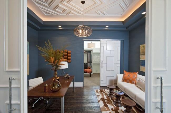 Многоуровневый потолок не уступает в оригинальности любому другому декорированному. А возможностей здесь даже больше