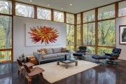 Фото 10 Потолок из гипсокартона в зале: 90+ роскошных интерьеров для гостиной вашей мечты