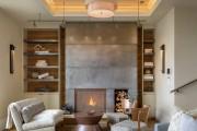 Фото 13 Потолок из гипсокартона в зале: 90+ роскошных интерьеров для гостиной вашей мечты