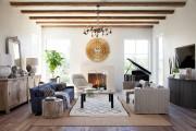 Фото 14 Потолок из гипсокартона в зале: 90+ роскошных интерьеров для гостиной вашей мечты