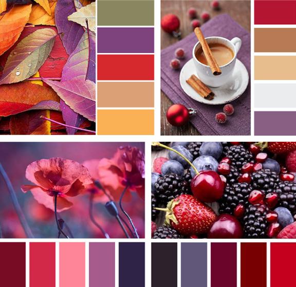 Так называемые цветовые схемы: примеры сочетаний с холодными цветами