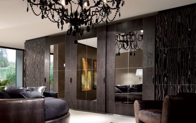 Поверхность дверей может имитировать любой материал и фактуру