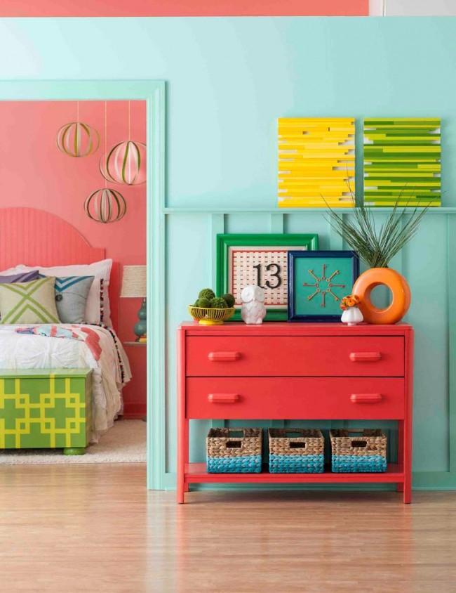 Определенные цвета в помещении настроят на нужный лад