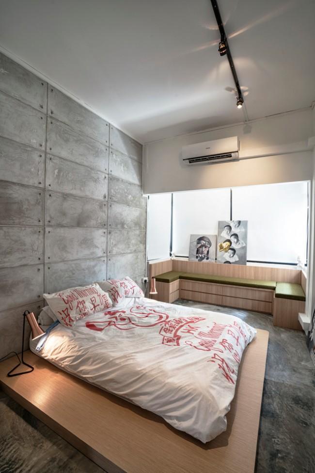 Комната в стиле минимализм с японским мотивом
