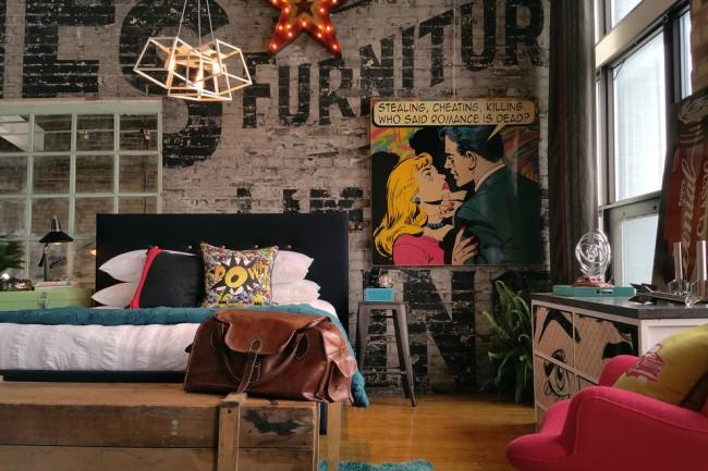 Оформление спальни в современности стиле с уклоном в ар-деко