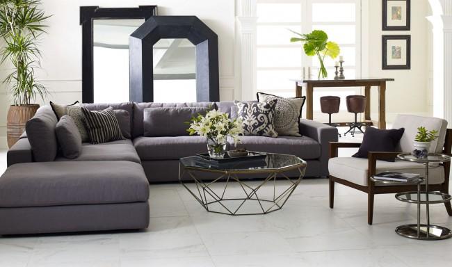 Геометричный столик в форме неправильного усеченного октаэдра станет отличным акцентом в гостиной