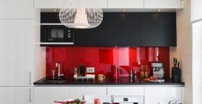 45 Идей фартука для кухни из стекла: новое слово в отделке кухонных поверхностей (фото) фото