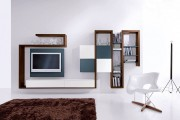 Фото 7 Стенки в зал: обзор современной и функциональной мебели для гостиной