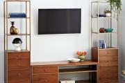 Фото 1 Стенки в зал: обзор современной и функциональной мебели для гостиной