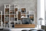 Фото 11 Стенки в зал: обзор современной и функциональной мебели для гостиной