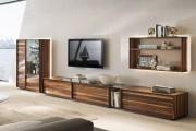 Фото 24 Стенки в зал: обзор современной и функциональной мебели для гостиной