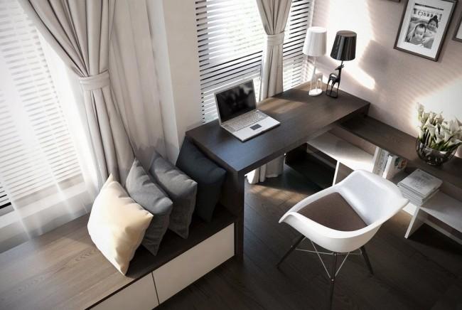 Встроенная мебельная система, предназначенная для хранения, работы и отдыха